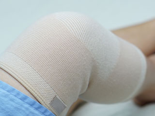 Picture of a knee in a support brace